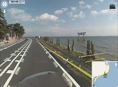 Google Map street view of Shirahige Shrine