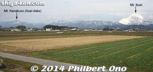 Mt. Kanakuso and Mt. Ibuki